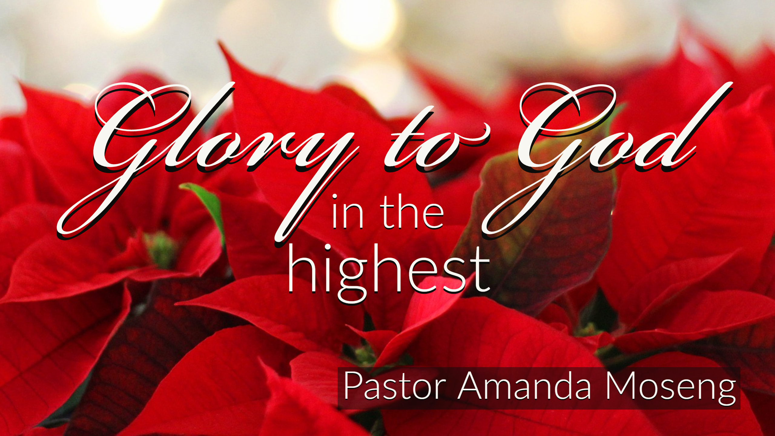 Glory to God in the Highest - December 30, 2018