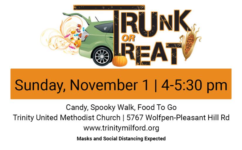 Trunk or Treat Nov 1