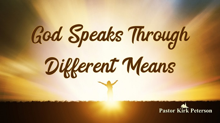God Speaks Through Different Means: Experiencing God Sermon Series, Week 6